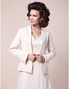 Women's Wrap Coats/Jackets Satin Wedding / Party/Evening Beading