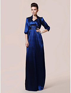 Lanting Sheath/Column V-neck Floor-length Taffeta Mother of the Bride Dress With A Wrap