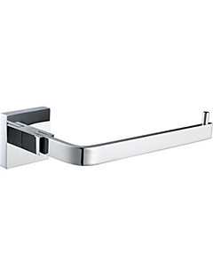 """Toilet Paper Holder Chrome Wall Mounted 180 x 135 x 75mm (7.08 x 5.31 x 2.95"""") Brass Contemporary"""