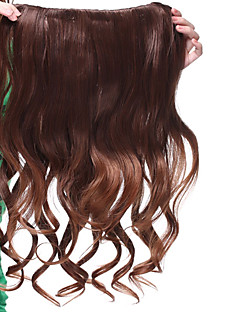 lång klipp i hög kvalitet syntetisk lockigt hår förlängning två färger tillgängliga