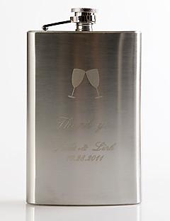 Marié / Groom Cadeaux Piece / Set Flasque Luxueux / Classique / Moderne Mariage / Célébration / Anniversaire Inox Personnalisé Flasque
