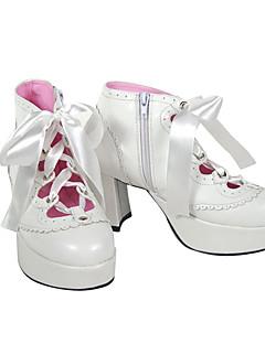Scarpe Punk Lolita Tacco alto Scarpe Tinta unita 7.5 CM Bianco Per Da donna Similpelle/Costumi in similcuoio di poliuretano