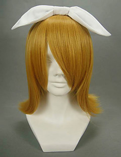 Cosplay Wigs Vocaloid Kagamine Rin Golden Short Anime/ Video Games Cosplay Wigs 40 CM Heat Resistant Fiber Female