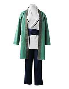 Ispirato da Naruto Tsunade Anime Costumi Cosplay Abiti Cosplay / Kimono Collage Bianco / Verde Maniche lungheMantello / Kimono /