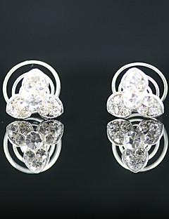 2 peças strass lindo pinos nupcial Headpieces ocasião especial