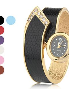 Femme Montre Habillée Montre Tendance Bracelet de Montre Montre Bracelet Quartz Alliage Bande Bracelet Elégantes Noir Blanc RougeOrange