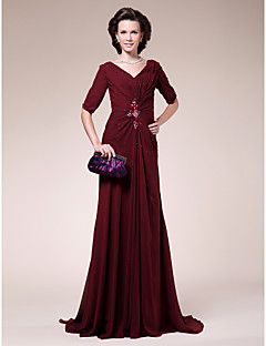 LAN TING BRIDE Sheath / Column Apple Hourglass Inverted Triangle Pear Rectangle Plus Size Petite Misses Mother of the Bride Dress -