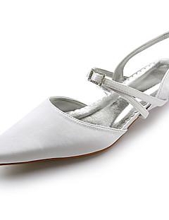 topkwaliteit satijn upperlow hiel-tenen afgesloten met strass trouwschoenen / bruids schoenen. meer kleuren beschikbaar