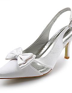 högsta kvalitet satin övre högklackade slingback bröllop brud shoes.more färger