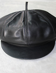 Sheepskin Beret Hat (S:55cm, M: 57cm, L 59cm)