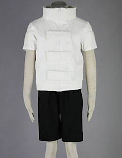 geinspireerd door Naruto Neji Hyuga Anime Cosplay Kostuums Cosplay Kostuums Effen Wit / Zwart Korte mouw Jas / Korte broeken