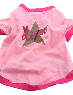犬のためのリヴァスタースタイルの綿のTシャツ(ピンク、複数のサイズの数:1)