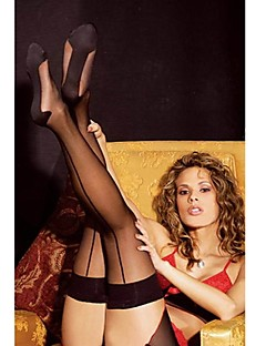 Women's Sexy Perspective Stripe Stockings