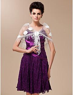 tyll og paljett med blomster bryllup / spesiell anledning sjal (flere farger)