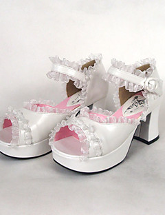 PU Leather 7.5cm High Heel Country Lolita Sandal
