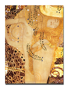 "Hand-painted Famous People Oil Painting with Stretched Frame 24"" x 36"" by Gustav Klimt"