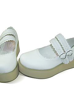 Scarpe Dolce Lolita Plateau Scarpe Tinta unita 5 CM Bianco Per Da donna Similpelle/Costumi in similcuoio di poliuretano