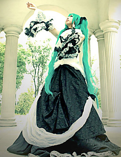 Inspired by Vocaloid Hatsune Miku Video Game Cosplay Costumes Cosplay Suits / Dresses Patchwork Black Long SleeveDress / Collar / Waist