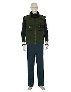 Inspired by Naruto Asuma Sarutobi Anime Cosplay Costumes Cosplay Suits Color Block Black / Blue / Green Long SleeveVest / T-shirt / Pants