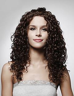 사용 가능한 capless 긴 최고급 품질의 합성 곱슬 머리 가발 여러 색상