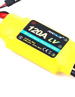 flycolor 120a 6s esc for flyvemaskine med børsteløs motor (tilfældige farver)