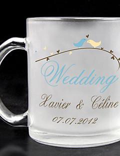 személyre matt üveg - esküvő