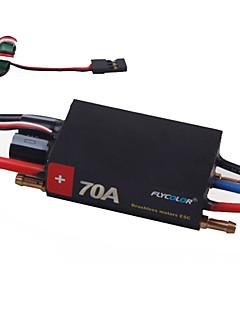 flycolor 4s 70a (sort shell) esc for rc båd med børsteløs sensorless motor (tilfældige farver)