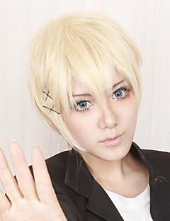 Cosplay Wigs Inu x Boku SS Banri Watanuki Golden Short Anime Cosplay Wigs 30 CM Heat Resistant Fiber Male