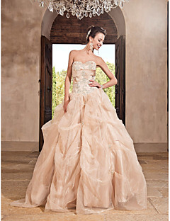 Prom/Formal Evening/Quinceanera/Sweet 16 Dress - Champagne Plus Sizes Princess/A-line/Ball Gown Sweetheart/Strapless Floor-length