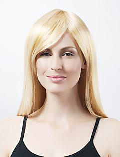 sin tapa extra larga sintética luz peluca rubia de pelo recto