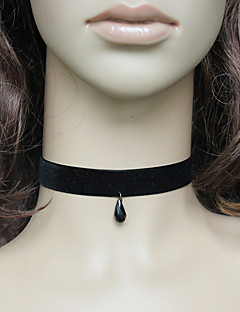 Handmade Black Velvet Classic Lolita Necklace with Pendant