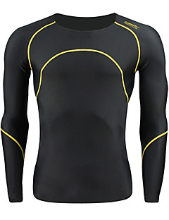 SANTIC® Cycling Jersey Men's Long Sleeve Bike Breathable / Thermal / Warm Base Layers / Tights / Jersey / Tops Spandex StripeFall/Autumn