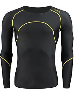 SANTIC® Camisa para Ciclismo Homens Manga Comprida Moto Respirável / Mantenha QuenteCamisa/Fietsshirt / camadas de base / Meia-calça /