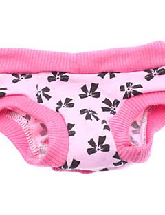 Dog Pants Pink Dog Clothes Spring/Fall Bowknot