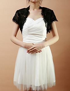 Elegant Short Sleeve Lace Wedding/Evening Evening Jacket/Wrap (More Colors) Bolero Shrug