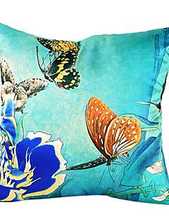 papillon parler soie taie d'oreiller décoratif