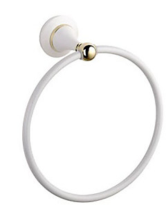 Contemporary Wall Mount Solid Brass Towel Rings