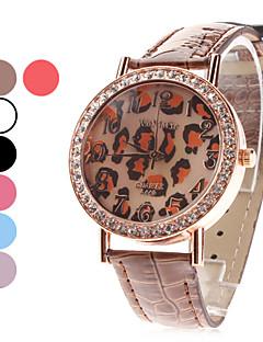 Damen Modeuhr Quartz Leder Band Glanz / Leopard Schwarz / Weiß / Blau / Rot / Braun / Lila / Rose Marke-