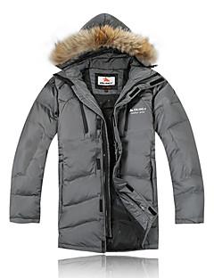 Ski Wear Down Jackets / Winter Jacket Men's Winter Wear 100% Polyester / Fleece Winter ClothingWaterproof / Breathable / Thermal / Warm /
