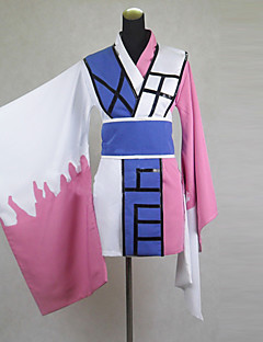 Inspired by Nurarihyon's Grandson Kyokotsu Anime Cosplay Costumes Cosplay Suits / Kimono Patchwork White / Blue / Pink Long SleeveKimono