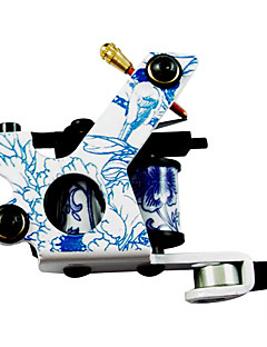 Classic Azul y Blanco Porcelana Tattoo Machine Gun para el revestimiento y sombreado