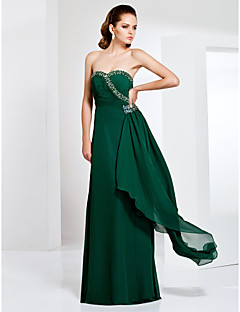 Formal Evening/Military Ball Dress - Dark Green Plus Sizes Sheath/Column Sweetheart/Strapless Floor-length Chiffon