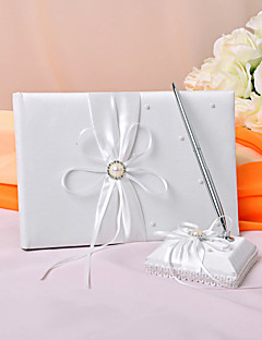 """""""Eternity"""" Wedding Guest Book and Pen Set"""