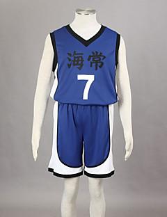 Inspiré par Kuroko pas de panier Kise Ryota Anime Costumes de cosplay Costumes Cosplay Imprimé Bleu Sans Manches Veste / Shorts