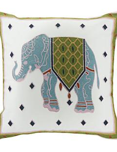 Broderade Elephant Bomull Dekorativ örngott