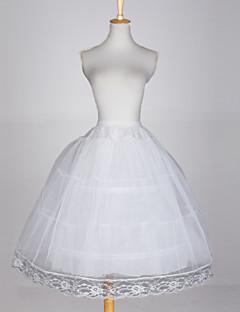 תחתונית  סליפ שמלת נשף 3 רשתות בד טול טפטה לבן