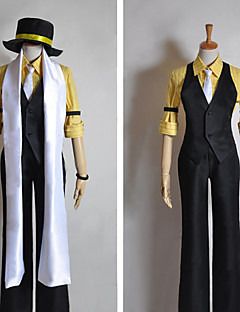 Inspired by Vocaloid Kagamine Len Video Game Cosplay Costumes Cosplay Suits Patchwork Black Half-SleeveVest / Shirt / Pants / Hat / Scarf