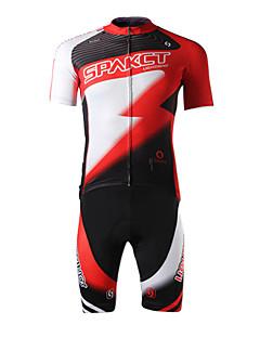 SPAKCT® חולצת ג'רסי ומכנס קצר לרכיבה לגברים שרוול קצר אופניים נושם / ייבוש מהיר / עמיד אולטרה סגול / חדירות ללחות / 3D לוח / נוחג'רזי /