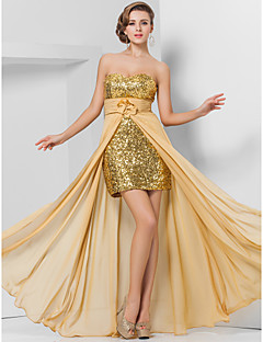 TS Couture® Prom / Formal Evening Dress - Sparkle & Shine / High Low Plus Size / Petite Sheath / Column Strapless / SweetheartFloor-length /