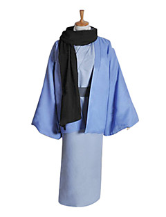Inspired by Kamisama Kiss Tomoe Anime Cosplay Costumes Cosplay Suits / Kimono Patchwork Blue Long Sleeve Coat / Kimono Coat / Scarf / Belt